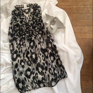 Charlotte Russe Sexy Leopard-Print Ruffle Negligée